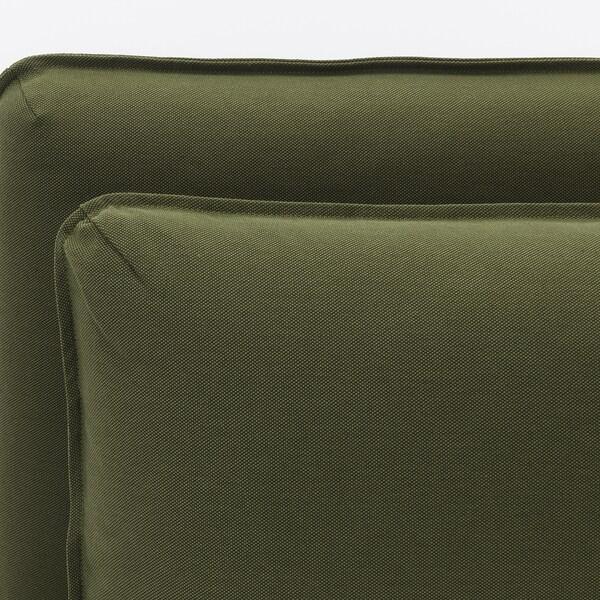 VALLENTUNA 2 eserlekuko modulu-sofa biltokiarekin/Orrsta oliba-berdea