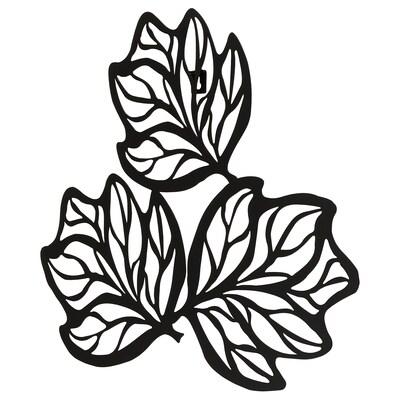 VÄTTLÖSA Hormarako apaingarria, hostoa beltza, 61x56 cm