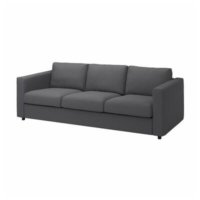 VIMLE 3 eserlekuko sofa, Hallarp grisa