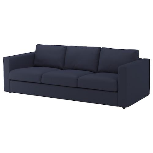 VIMLE 3 eserlekuko sofa Orrsta beltza-urdina 83 cm 68 cm 6 cm 15 cm