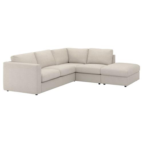 VIMLE izkinako 4 eserlekuko sofa +ertz irekia/Gunnared beixa 83 cm 68 cm 195 cm 192 cm 6 cm 15 cm