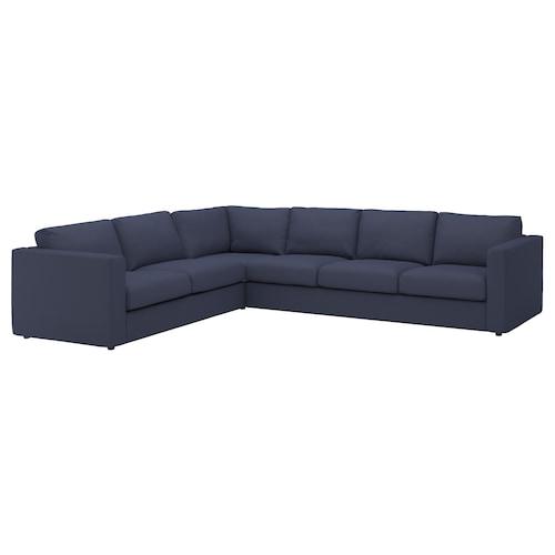 VIMLE izkinako 5 eserlekuko sofa Orrsta beltza-urdina 83 cm 68 cm 262 cm 192 cm 6 cm 15 cm