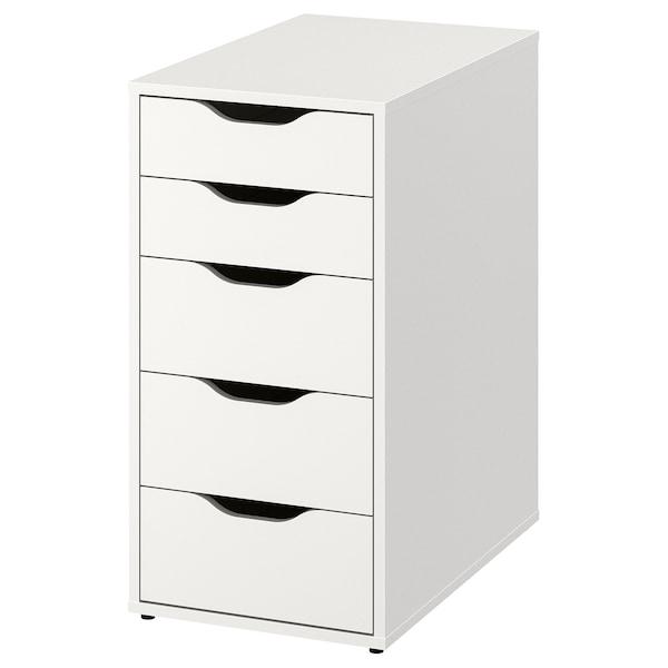 ALEX Moble de caixóns, branco, 36x70 cm