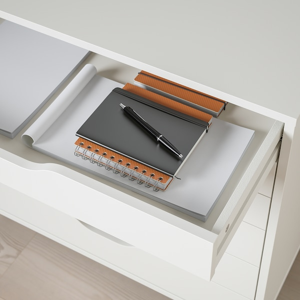 ALEX Moble de caixóns con rodas, branco, 67x66 cm