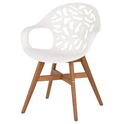 ANGRIM Cadeira, branco con deseño/int/ext