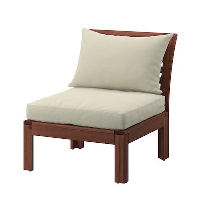 ÄPPLARÖ Cadeira de xardín, tintura marrón/Hållö beixe