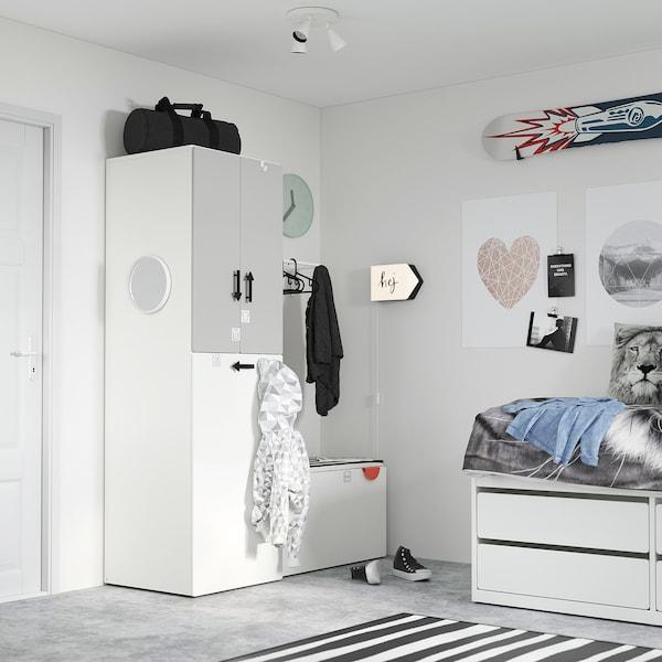 BÄGAREN Lámpada parede, frecha branco/negro
