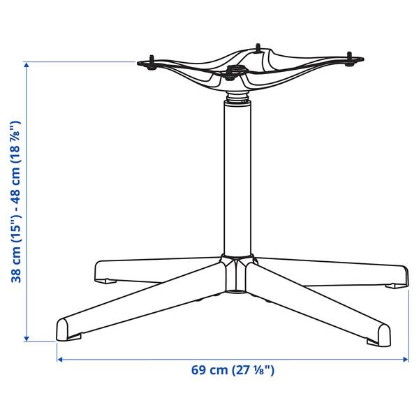 BALSBERGET Estrutura cadeira, xiratoria