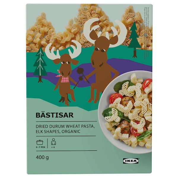 BÄSTISAR Pasta, ecolóxico, 400 g