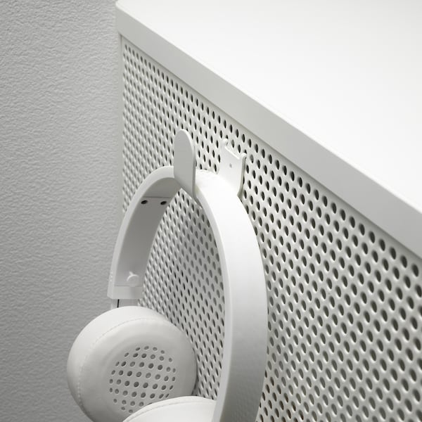 BEKANT Armario con peche, reixa branco, 41x61 cm