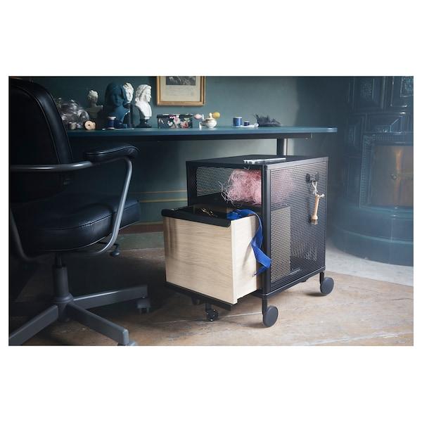 BEKANT Armario con peche, reixa negro, 41x61 cm