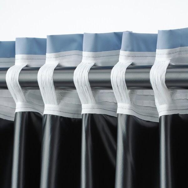BENGTA Cortina opaca 1 longo, azul, 210x300 cm