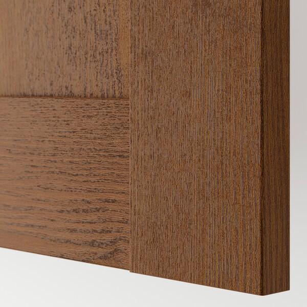 BERGSBO Porta con bisagras, efecto freixo tintura marrón, 50x195 cm