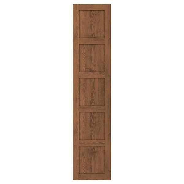 BERGSBO Porta, efecto freixo tintura marrón, 50x229 cm