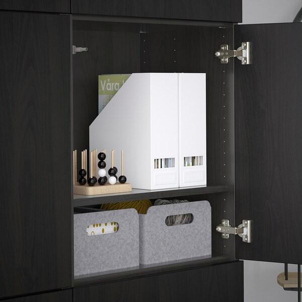 BESTÅ Moble salón, Lappviken negro-marrón, 120x40x192 cm