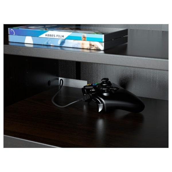 BESTÅ Moble TV, negro-marrón/Lappviken/Stubbarp negro-marrón, 120x42x74 cm