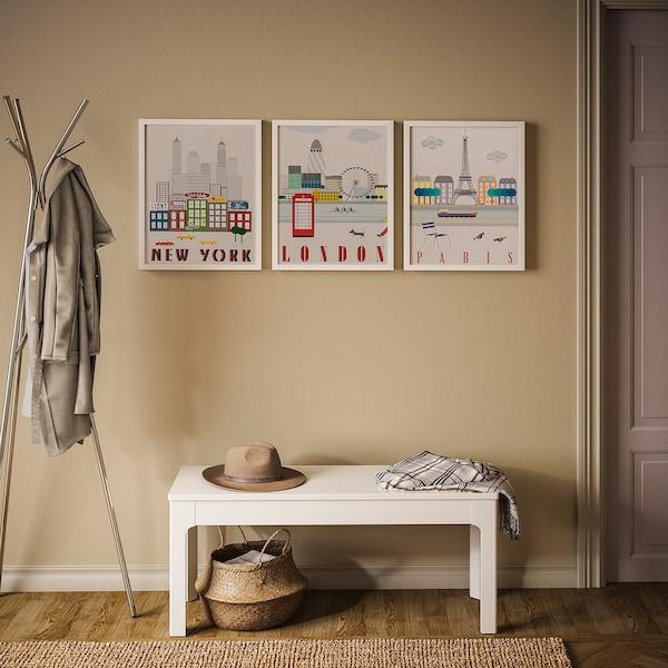 BILD Lámina, Londres, París, Nova York, 40x50 cm