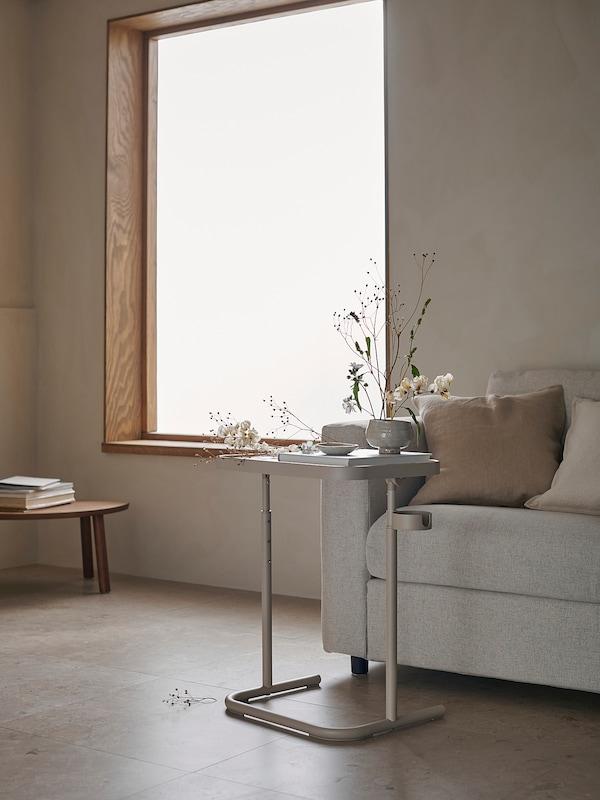 BJÖRKÅSEN Soporte portátil, beixe