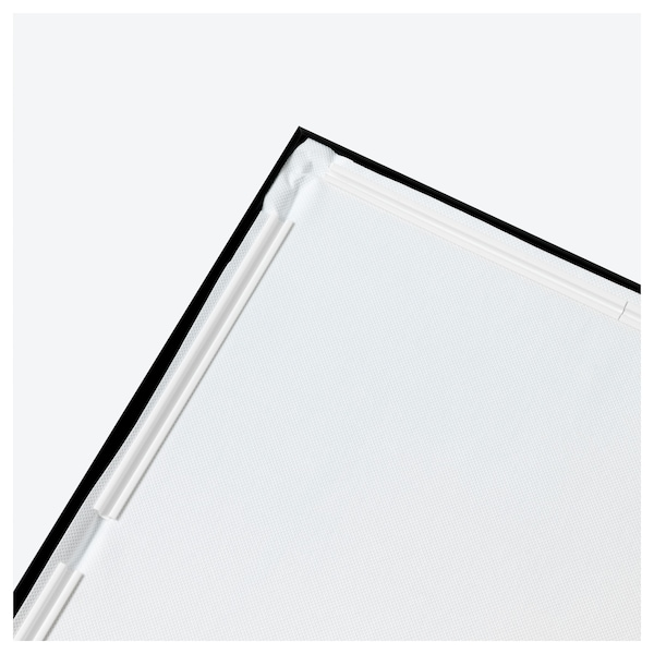 BJÖRKSTA Imaxe+marco, Canle grande/negro, 200x140 cm