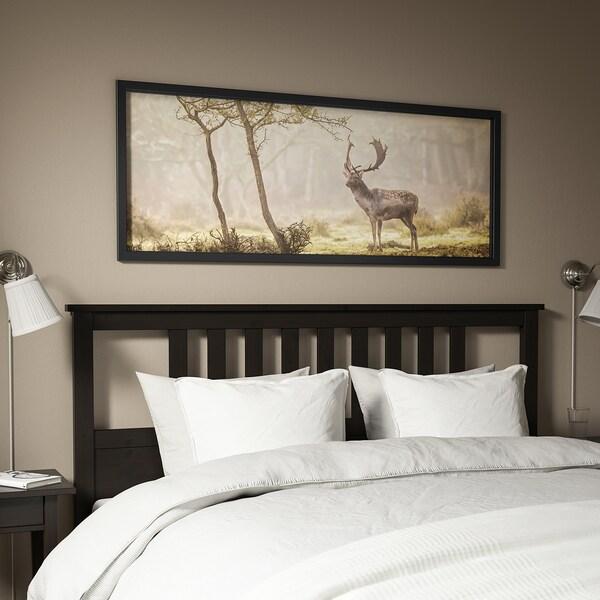 BJÖRKSTA Imaxe+marco, Cervo no claro/negro, 140x56 cm