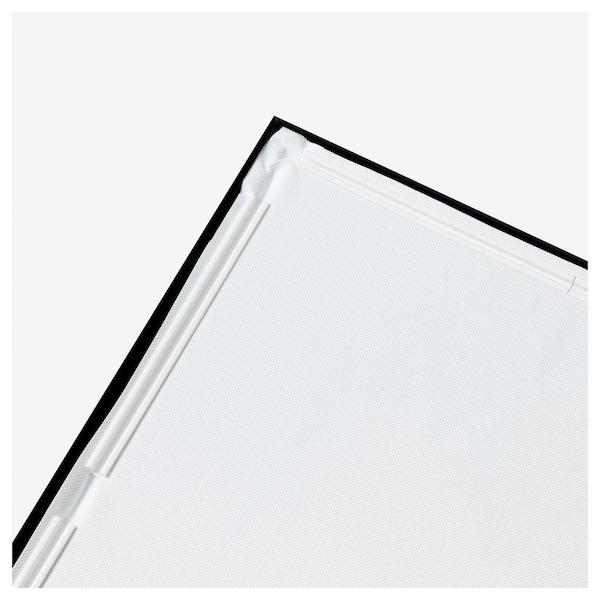 BJÖRKSTA Imaxe+marco, prisma/negro, 78x118 cm