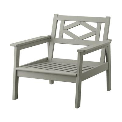 BONDHOLMEN Cadeira de brazos de xardín, gris