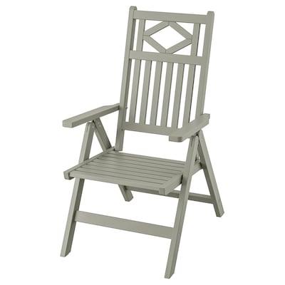 BONDHOLMEN Cadeira de xardín reclinábel, gris