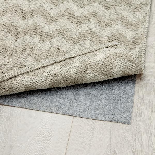 BREDEVAD Alfombra, motivo en zigzag beixe, 75x150 cm