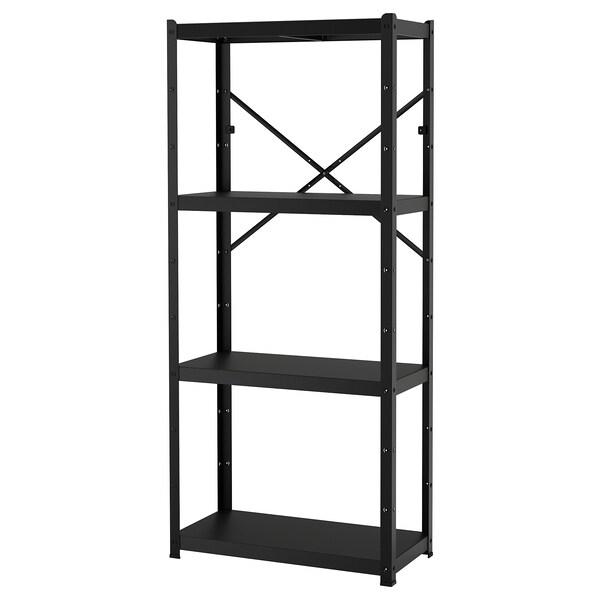 BROR Estante, negro, 85x40x190 cm