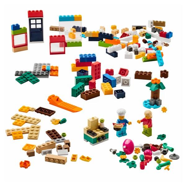 BYGGLEK Caixa de 201 ladrillos LEGO®, cores variadas