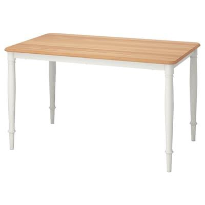 DANDERYD Mesa de comedor, chapa carballo/branco, 130x80 cm
