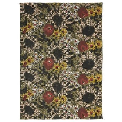 DEKORERA Alfombra, motivo de flores, 160x220 cm