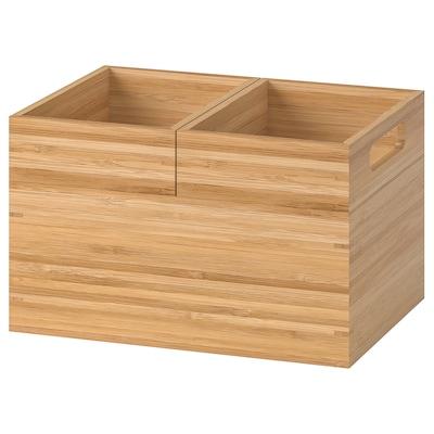DRAGAN Caixa xogo 3, bambú, 23x17x14 cm