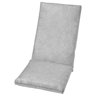 DUVHOLMEN Coxín interior asento/respaldo, exterior gris, 71x45/42x45 cm