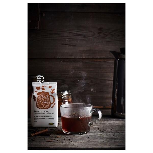 EGENTID Chai negro, xenxibre/bagas de sabugueiro/Orgánico/con certificación UTZ, 175 g