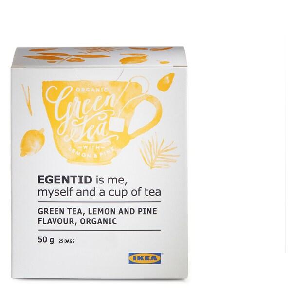 EGENTID Té verde, limón/piñeiro/Orgánico/con certificación UTZ, 50 g