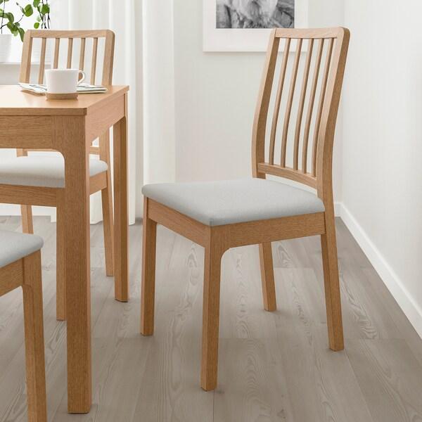 EKEDALEN Cadeira, carballo/Orrsta gris claro