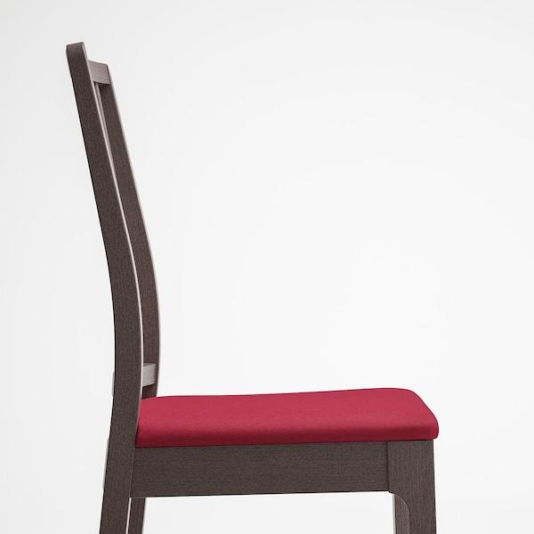 EKEDALEN Cadeira, marrón escuro/Orrsta vermello