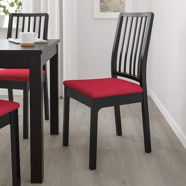 EKEDALEN Cadeira, negro/Orrsta vermello