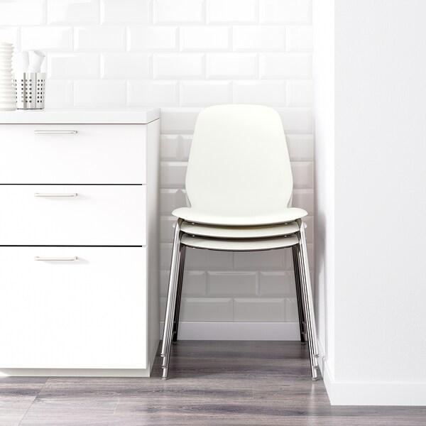 EKEDALEN / LEIFARNE Mesa e 6 cads, carballo/branco, 180/240 cm