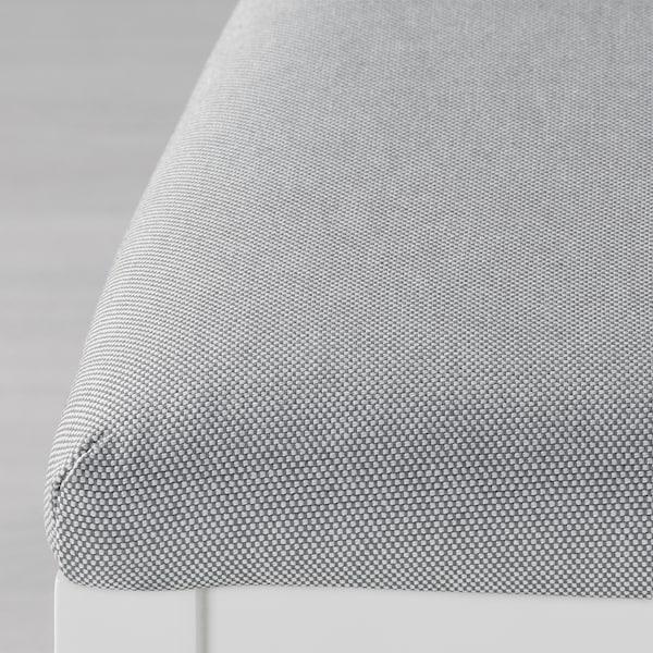 EKEDALEN Mesa e 6 cads, branco/Orrsta gris claro, 180/240 cm