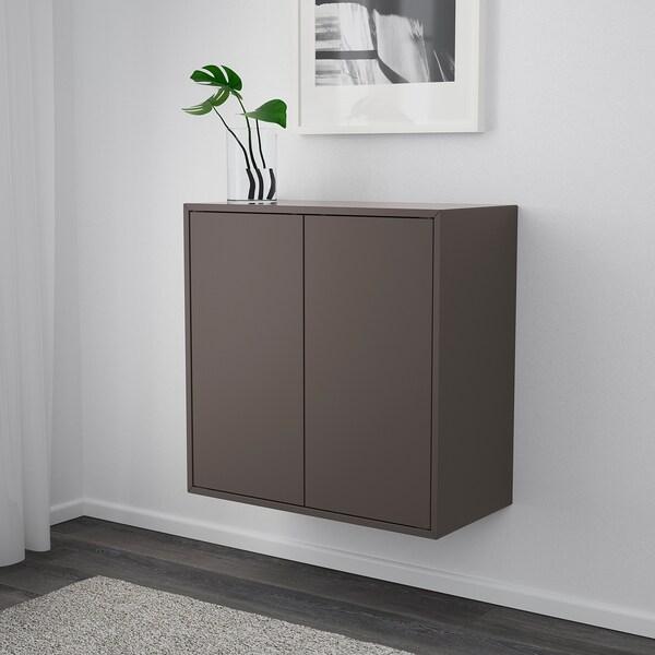 EKET Estante de parede, gris escuro, 70x35x70 cm