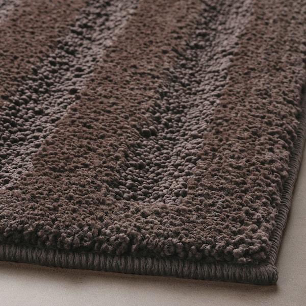 EMTEN Alfombra de baño, marrón escuro, 50x80 cm