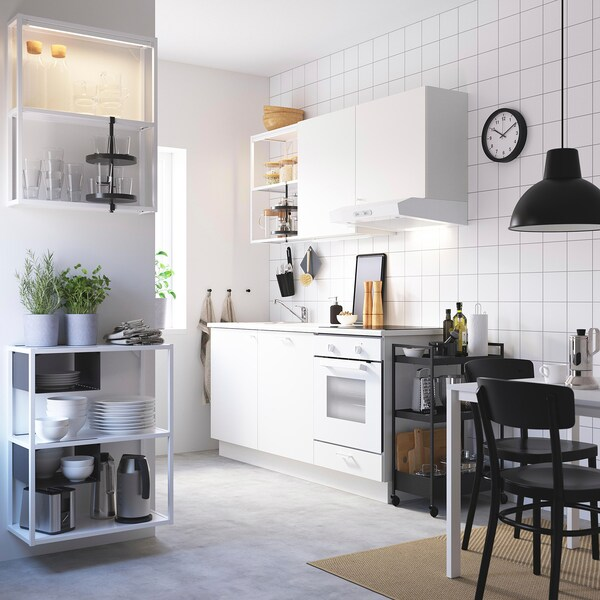 ENHET Almacenaxe chan/parede, branco, 60x30x150 cm