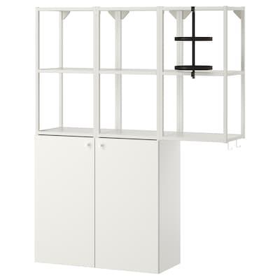 ENHET Combi almacenaxe parede, branco, 120x32x150 cm