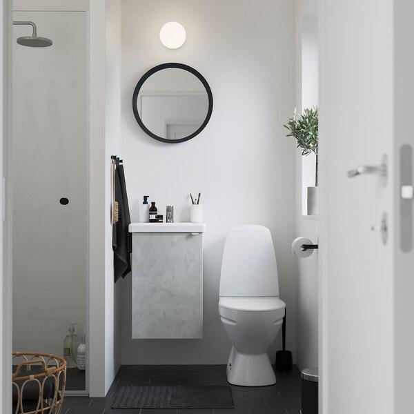 ENHET / TVÄLLEN Armario lavabo+1prta, efecto cemento/branco Pilkån billa, 44x43x65 cm