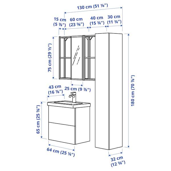 ENHET / TVÄLLEN Mobles baño  j18, branco/antracita Ensen billa, 64x43x65 cm