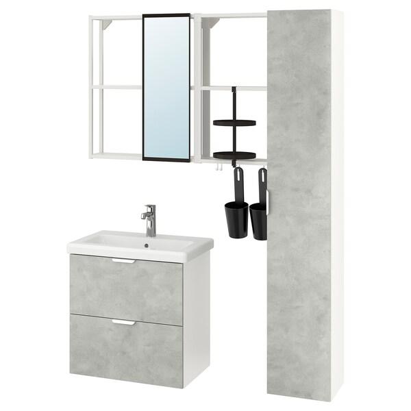ENHET / TVÄLLEN Mobles baño  j18, efecto cemento/branco billa Brogrund, 64x43x65 cm
