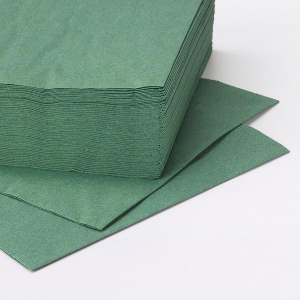 FANTASTISK Pano de mesa de papel, verde escuro, 40x40 cm