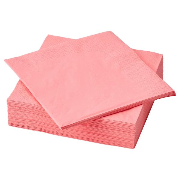 FANTASTISK Pano de mesa de papel, vermello/rosa claro, 40x40 cm